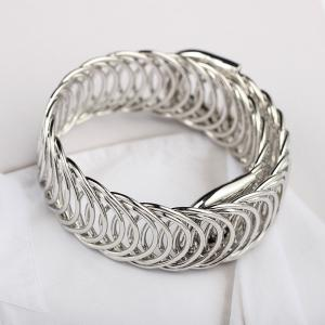 Metal Braided Stretch Bracelet Fashion Cool Ethnic Style Accessories -