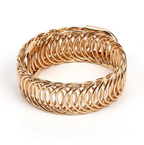 Affordable Metal Braided Stretch Bracelet Fashion Cool Ethnic Style Accessories