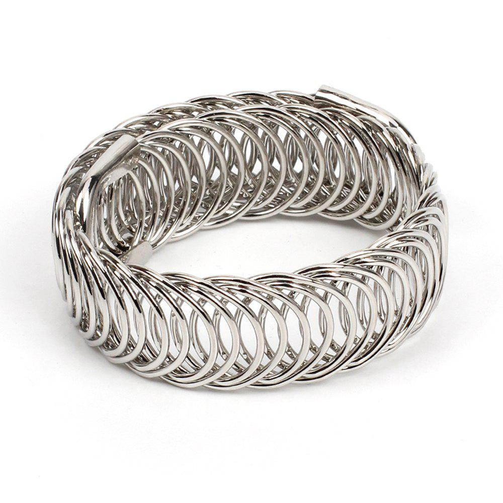 New Metal Braided Stretch Bracelet Fashion Cool Ethnic Style Accessories