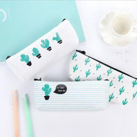 Best Travel Makeup Cosmetic Cactus Case Wash Organizer Storage Cartoon Pencil Case