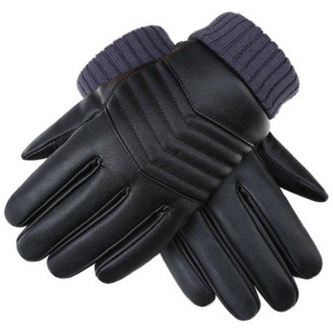 Winter Men s PU Water Skin Leather Touch Screen Leather Gloves To Keep Warm and Bike Riding To Protect Against Cold