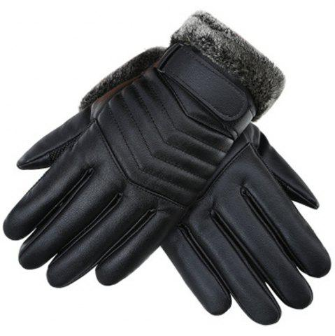 Fashion Winter Men's PU Water Skin Leather Touch Screen Leather Gloves To Keep Warm and Bike Riding To Protect Against Cold