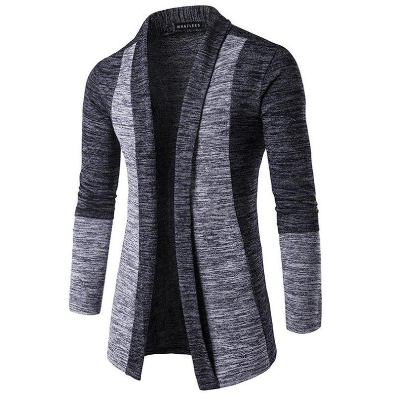 Store Men's Sweater Cardigan Long Sleeve Fit Casual Knit Cardigan Coat