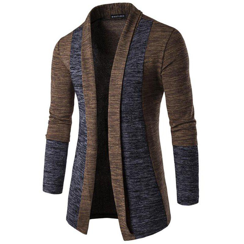 Trendy Men's Sweater Cardigan Long Sleeve Fit Casual Knit Cardigan Coat