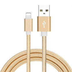 1m Case for iPhone Super Durable Nylon Braided Wire Metal Plug Charger -
