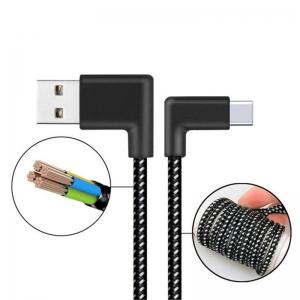 2m Cable for Type-c Right Angle Data Sync Charger -