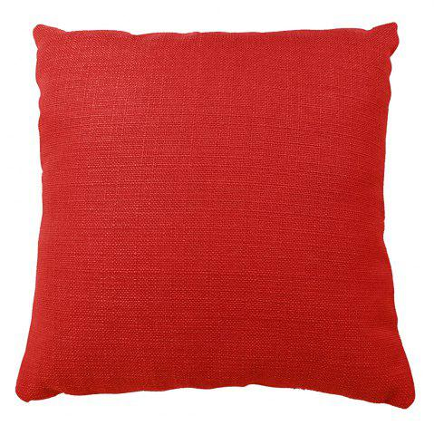 Store Pure Color Red Cotton Cushion Hug Pillowcase