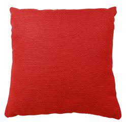 Pure Color Red Cotton Cushion Hug Pillowcase -