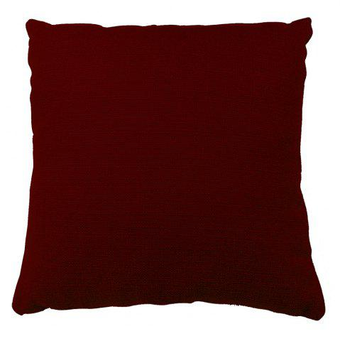 Buy Pure Color Wine Red Cotton Cushion Hug Pillowcase