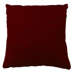 Pure Color Wine Red Cotton Cushion Hug Pillowcase -