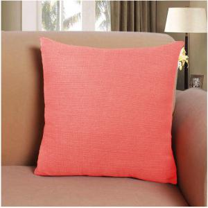 Pure Color  Water Red Cotton Cushion Hug Pillowcase -