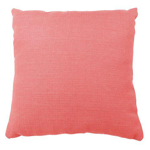 Fashion Pure Color  Water Red Cotton Cushion Hug Pillowcase