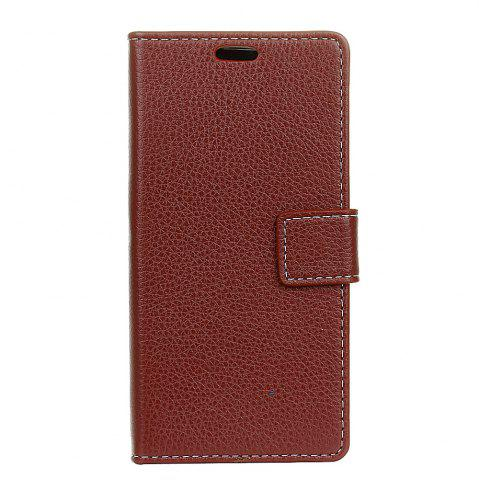 Outfit Cover Case For BQ Aquaris V Plus Litchi Pattern PU Leather Wallet Case