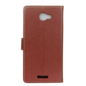 Cover Case For Alcatel Flash Plus 2 Litchi Pattern PU Leather Wallet Case -