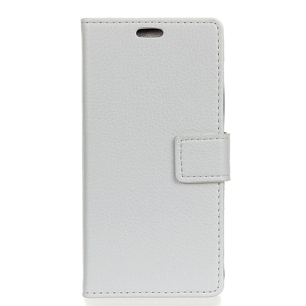 New Cover Case For Alcatel Flash Plus 2 Litchi Pattern PU Leather Wallet Case