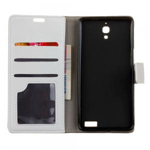 Cover Case For Alcatel OneTouch idol X Litchi Pattern PU Leather Wallet Case -
