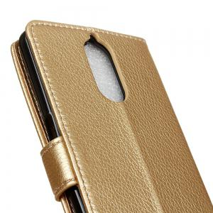 Cover Case For Doogee Shoot 1 Litchi Pattern PU Leather Wallet Case -