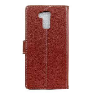Cover Case For Doogee Y6 Litchi Pattern PU Leather Wallet Case -