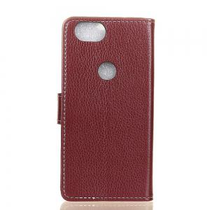 Cover Case For Google Pixel 2 Litchi Pattern PU Leather Wallet Case -