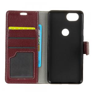 Cover Case For Google Pixel XL 2 Litchi Pattern PU Leather Wallet Case -