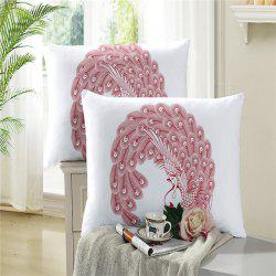 Embroidered Swan Feather Pillowcase Series 2PCS -