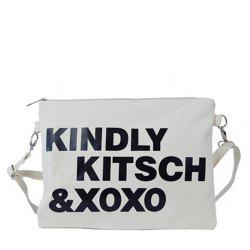 Women's Crossbody Bag Chic Letters Themed Unisex Bag -