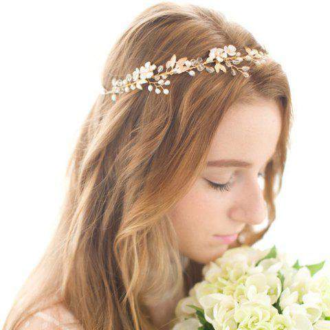 Золотые листы Vine Bridal Headpiece Boho Crystal Pearl Wedding Wreath Women