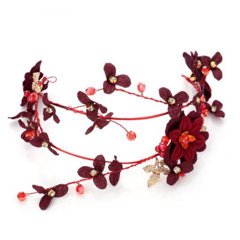 Sale Red Rose Flower Fabric Headband Hair Jewelry for Women Wedding Party