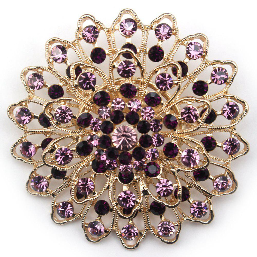 Outfit Women Girls Crystal Ornament Rhinestone Flower Pendant Brooch Fine Jewelry Gifts