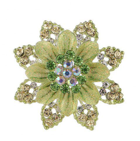 Latest Women Girls Crystal Rhinestone Flower Pendant Brooch Fine Jewelry Gifts Ornament