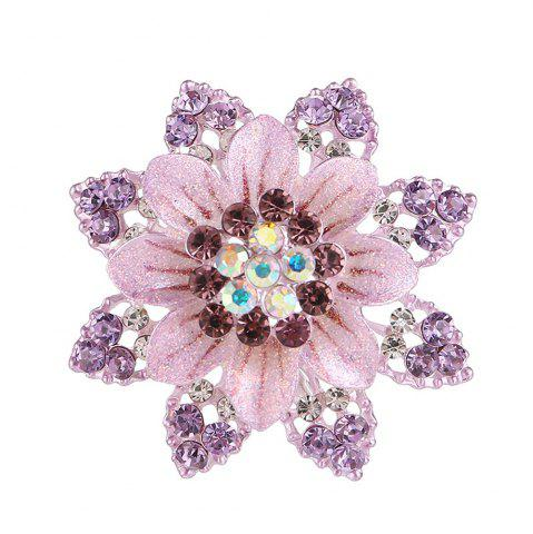 Hot Women Girls Crystal Rhinestone Flower Pendant Brooch Fine Jewelry Gifts Ornament