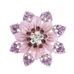 Women Girls Crystal Rhinestone Flower Pendant Brooch Fine Jewelry Gifts Ornament -
