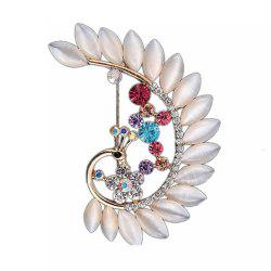 Women Girls Crystal Rhinestone Peacock Pendant Brooch Fine Jewelry Gifts Ornament -