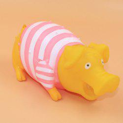 Stripes Pig Vacuum Vent Trick Funny Sounding Scream Toys -