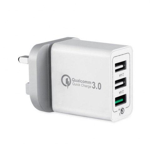 Hot 30W 3 Port Fast Quick Charge QC 3.0 USB  Wall Charger Adapter