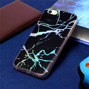 Fashion Color Plated Marble Phone Case For iPhone 5/5S/SE Case Cover Luxurious Soft TPU Full 360 Protection Phone Bag -