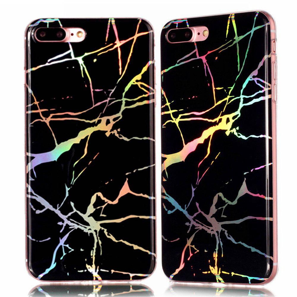 Latest Fashion Color Plated Marble Phone Case For iPhone 7 Plus Case Cover Luxurious Soft TPU Full 360 Protection Phone Bag