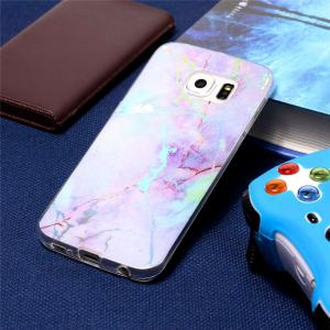 Fashion Color Plated Marble Phone Case For Samsung Galaxy S6 Edge Case Cover Luxurious Soft TPU Full 360 Protection Case -