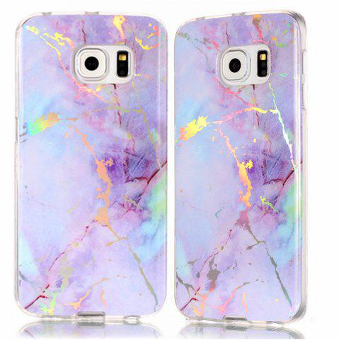 Shop Fashion Color Plated Marble Phone Case For Samsung Galaxy S6 Edge Case Cover Luxurious Soft TPU Full 360 Protection Case