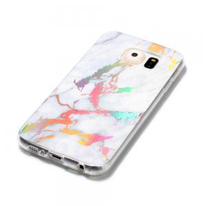 Fashion Color Plated Marble Phone Case For Samsung Galaxy S6 Case Cover Luxurious Soft TPU Full 360 Protection Case -