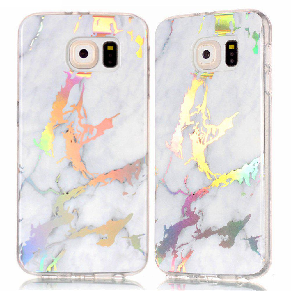 Outfits Fashion Color Plated Marble Phone Case For Samsung Galaxy S6 Case Cover Luxurious Soft TPU Full 360 Protection Case