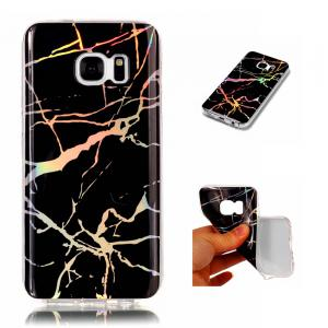 Fashion Color Plated Marble Phone Case For Samsung Galaxy S7 Case Cover Luxurious Soft TPU Full 360 Protection Case -
