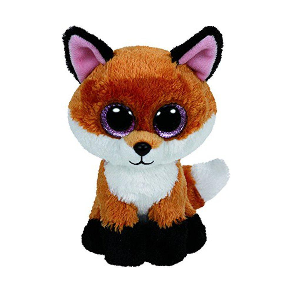 Shop 6-Inch Slick Brown Fox Plush Baby Stuffed Doll Collectible Soft  Big Eyes Toy