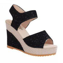 Fish Mouth Slope and Magic Stick Sandals -