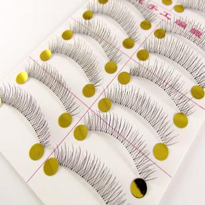 Pure Hand-made Transparent Stem False Eyelashes 10 Pairs -