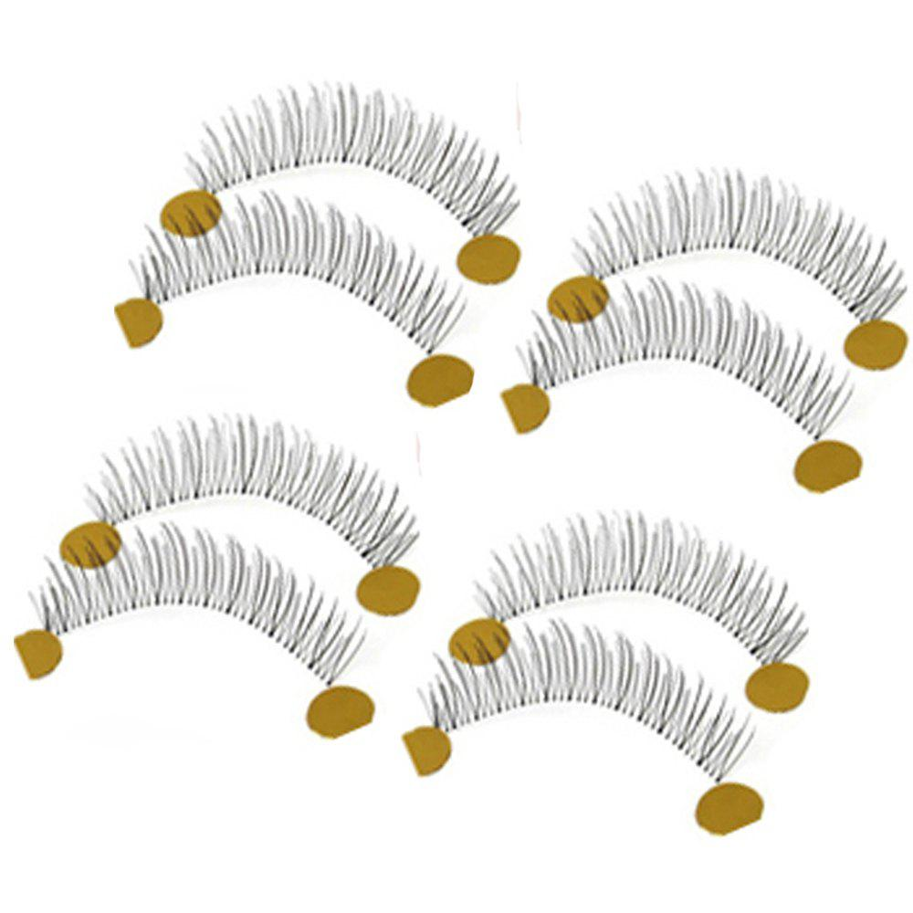 Fashion Pure Hand-made Transparent Stem False Eyelashes 10 Pairs