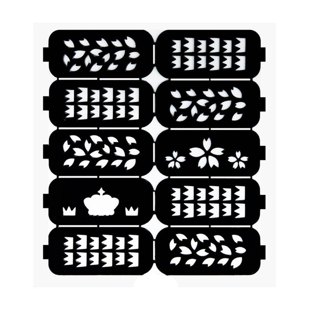 Outfit Nail Art Printing Hollow Stickers