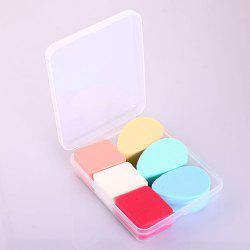 Boxed Rhombus Water Drop Makeup Sponge Puff -