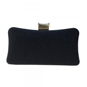 Women Bags Leatherette Evening Bag Buttons Crystal Detailing for Wedding Party -