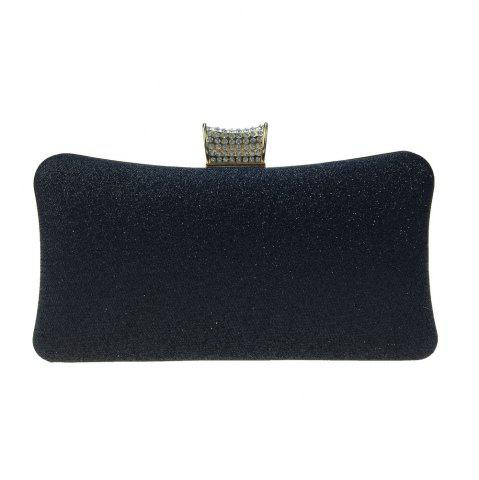 Trendy Women Bags Leatherette Evening Bag Buttons Crystal Detailing for Wedding Party